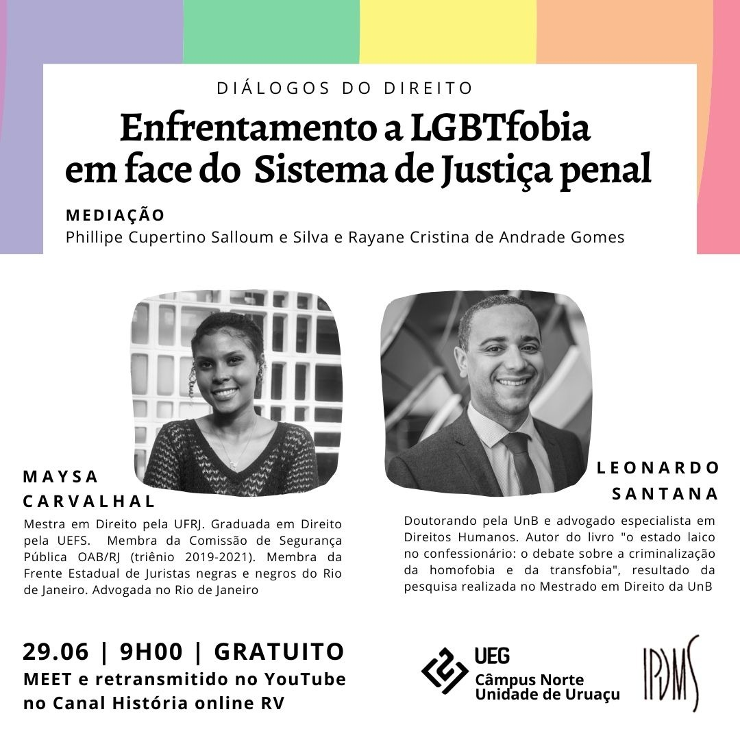 Diálogos do Direito – Enfrentamento a LGBTfobia em face do Sistema de Justiça penal